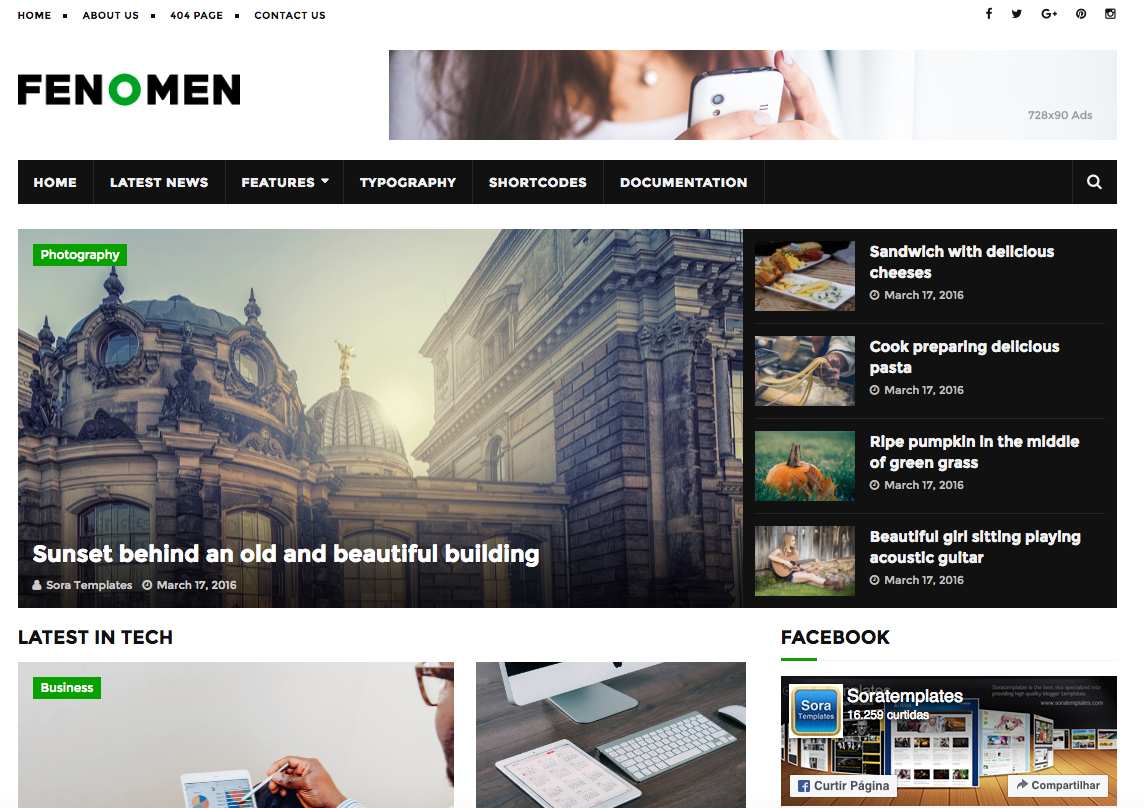 Clean Responsive News, Magazine Blogger Theme