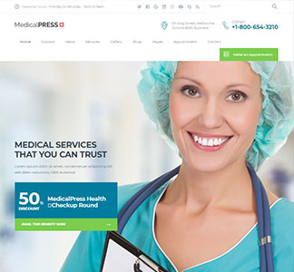 MedicalPlus v1.0.9 – Health and Medical WordPress Theme