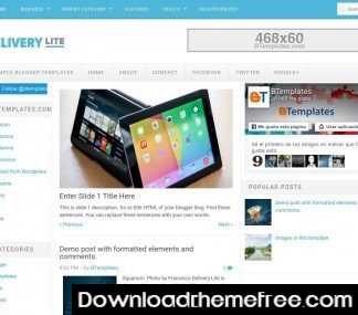 Delivery fatless – Free blogspot theme